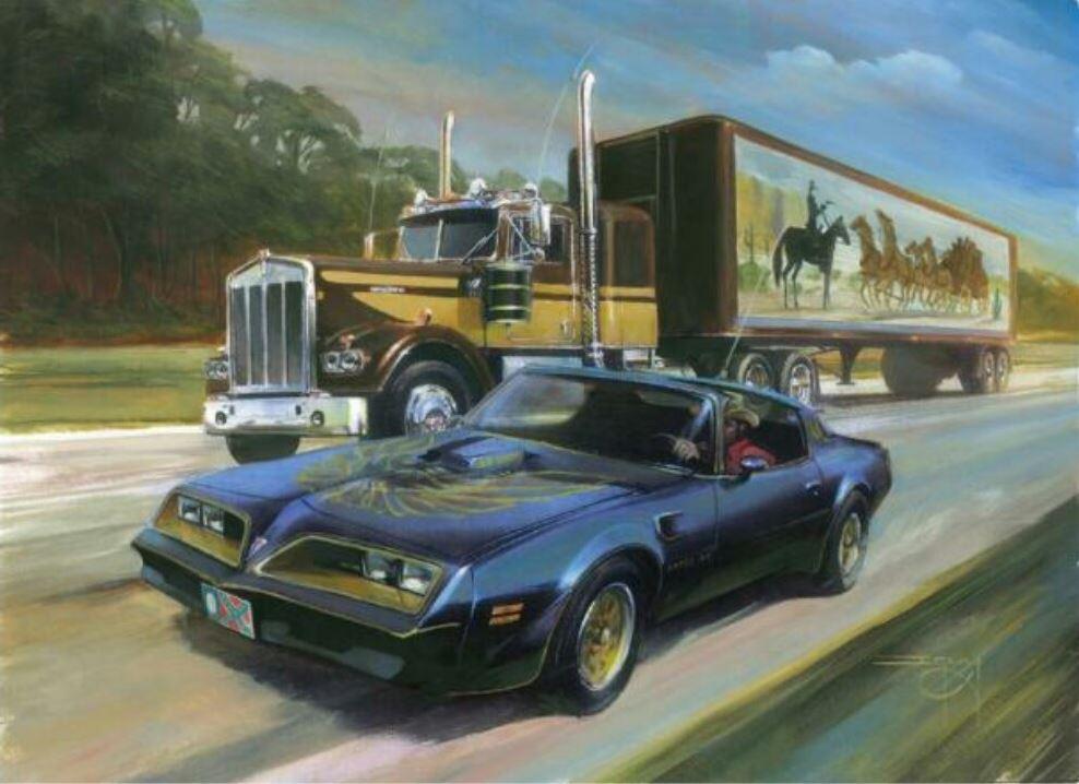 Smokey and the bandit truck mural
